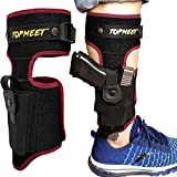 topmeet Ankle/Leg Gun Holsters for Pistols Concealed Carry with Tactical OWB IWB Magazine Pocket Fits Glock 18 20,Desert Eagle,SW MP Shield 40 45 9mm,Revolver,Springfield Xds xd, Ruger,Kimber,Red