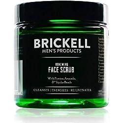 Brickell Men's Renewing Face Scrub for Men, Natural & Organic Exfoliating Facial Scrub - 4 oz Customer Image 1