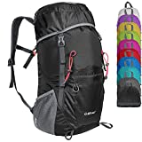G4Free Hiking Backpack Large 40L Lightweight Packable Foldable Water Resistant Travel Backpack Hiking Daypack(Black)