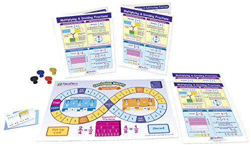 NewPath Learning Multiplying and Dividing Fractions Learning Center Game, Gr. 3 to 5