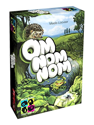 BRAIN GAMES Om Nom Nom Board Game - Solo or Multiplayer Strategy Game for Kids, Age 8+, Teenagers and Adults - Award Winning Family Fun!