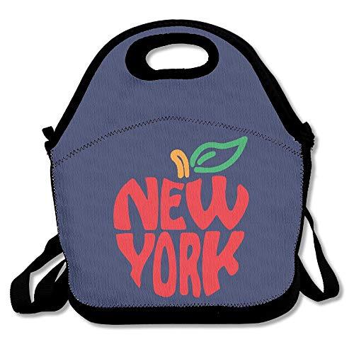 New York Red Apple NYC LogoLunch Box For Girls Lunch Bag Lunch Box Food Bag Fashion