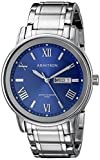 Armitron Men's 20/4935BLSV Day/Date Function Silver-Tone Bracelet Watch