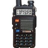 BaoFeng BF-F8HP (UV-5R 3rd Gen) 8-Watt Dual Band Two-Way Radio (136-174Mhz VHF & 400-520Mhz UHF) Includes Full Kit