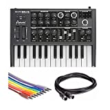 Arturia MicroBrute Analog Synthesizer Bundle, Includes Hosa 3.5 mm TS to 3.5 mm TS Unbalanced Patch Cables and MID-305BK Midi Cable