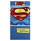 Hallmark Medium Slim Dad Contemporary Superman Foil Birthday Card