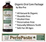 PerioPaste Organic Toothpaste 4oz Tube + PerioClear Organic Mouthwash by Bio-Pro Dental