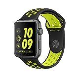 Apple Watch Series 2 Nike+ 38mm, Banda deportiva, color Negro/Verde