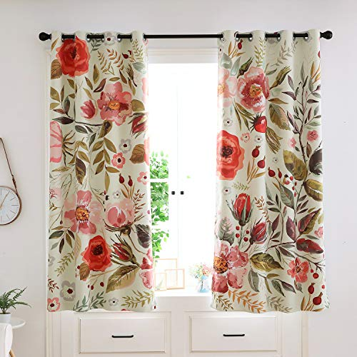 Floral Spring Roses Curtains