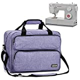 HOMEST Sewing Machine Carrying Case, Universal Tote Bag with Shoulder Strap Compatible with Most Standard Singer, Brother, Janome, Purple (Patent Pending)
