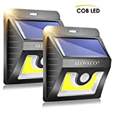 Solar Wall Lights Outdoor Motion Sensor, Super Bright COB 36 LED Wireless Waterproof Solar Porch Lights, Solar Security Light for Porch Patio Yard Deck Stairway Driveway (2 Pack)