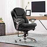 Serta Works Ergonomic Executive Office Chair with Back in Motion Technology, Black Bonded Leather