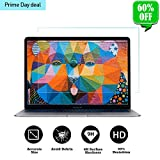 Tempered Glass Screen Protector Compatible 2018 New MacBook Air 13 Inch(Model:A1932)& New MacBook Pro 13 Inch(Model:A1706 A1708 A1989), 9H Hardness Anti Scratch and Bubble Free Glass Screen Cover