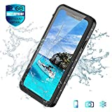 Mangix iPhone Xs Max Case,Full-Body Rugged Clear Bumper Case with Built-in Screen Protector 360 Degree Protection for Apple iPhone Xs Max 6.5inch (Black) (Black)
