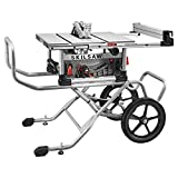 "SKILSAW SPT99-11 10"" Heavy Duty Worm Drive Table Saw with Stand, Silver"