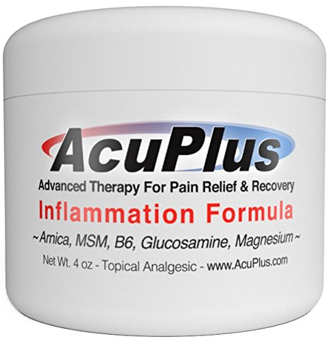 AcuPlus Pain Relief Cream - Advanced Therapy for Relief and Recovery from Bursitis, Tendonitis, Joint Pain, Arthritis Pain, and Muscle Pain - Back Pain Relief (4 Oz.)