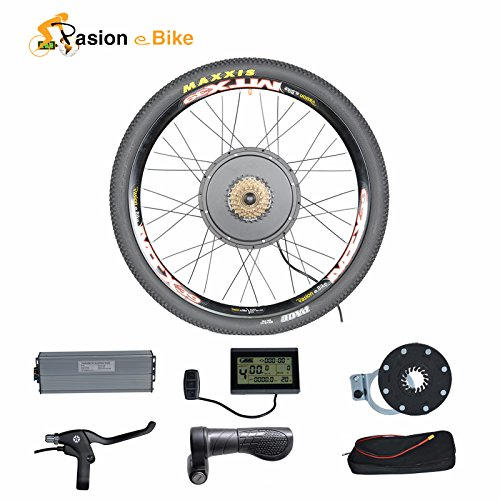 "Passion eBike 48V 1500W Motor Bicicleta Electric Bicycle Bike Conversion Kit for 26"" Rear Wheel"