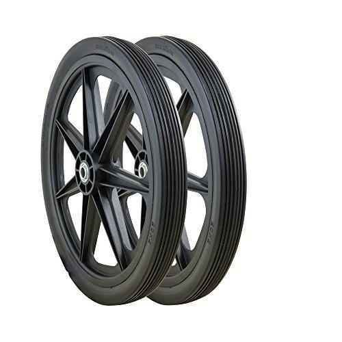 Marathon 92001-2pk 20x2.0 Rim Flat Free Cart Tire Assembly, 2 Pack