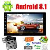 Binize Android 8.1 Universal Car Multimedia MP5 Player GPS Navigation 7' HD Touch Screen 2 Din Built in WiFi Ultra Thin Car Stereo Radio for car Quad Core FM Bluetooth/Mirror Link(No DVD Player!)