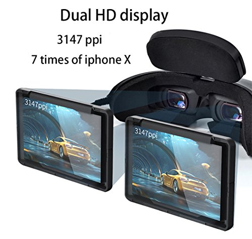 Goovis G2 Cinema VR Headset 3D Theater Goggles with Sony OLED  1920x1080x2,HD Giant Screen Display Compatible with Set-top Box, PS4,Xbox,