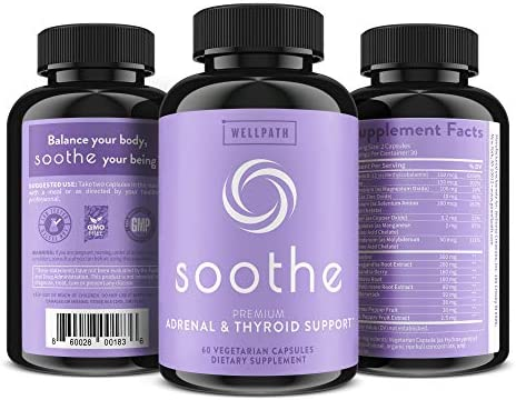 Soothe Thyroid Support and Adrenal Support Supplement - 2 in 1 Natural Formula to Support Energy, Metabolism, Adrenal Fatigue Response, Stress Response, and Cortisol Balance 5