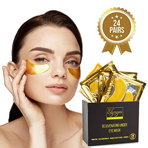 (24 PAIRS) Rejuvenating Under Eye Mask for Puffy Eyes - Dark Circles Under Eye Bags Treatment - 24k Gold Anti-Aging Under Eye Patches - Under Eye Pads w/Hydrating Gel - Wrinkle Care for Women and Men 3