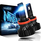 NINEO H11 H8 H9 LED Headlight Bulbs CREE Chips,12000Lm 5090Lux 6500K Extremely Bright All-in-One Conversion Kit,360 Degree Adjustable Beam Angle