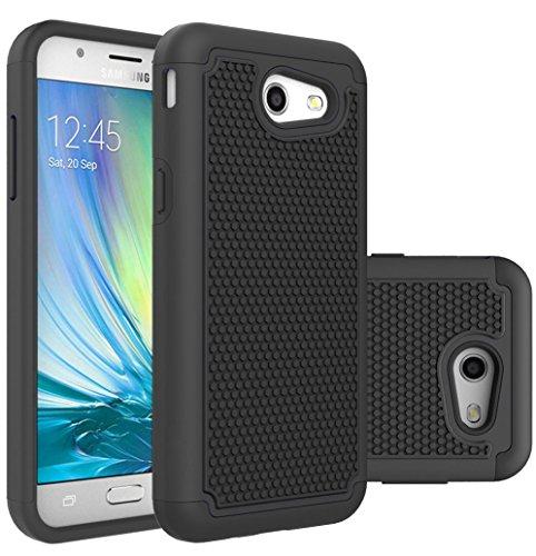 Galaxy J3 Emerge Case,Galaxy J3 Prime Case,Galaxy J3 Luna Pro Case,J3 Eclipse Case,Galaxy Express/Amp Prime 2 Case,Asmart Armor Defender Cover Protective Phone Case for Samsung Galaxy J3 2017, Black