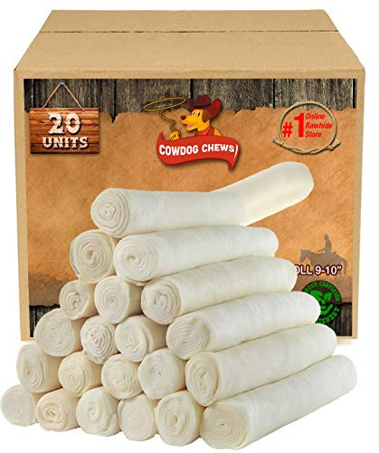 Retriever Roll 9-10 inches (20 Pack) Extra Thick Dog Treat Chew - Large and...
