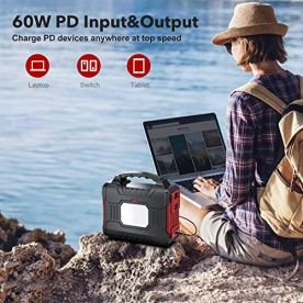 300W-Portable-Power-Station-350W-Peak-BUTURE-266Wh-Solar-Outdoor-Generator-72000mAh-60W-PD-Power-Bank-with-Dual-110V-Pure-Sine-Wave-AC-Outlets-12V10A-DC-Out-CPAP-Battery-Power-Supply-for-Camping