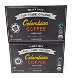 Trader Joe's Organic Columbian Coffee 12 single serve cups (Pack of 2)