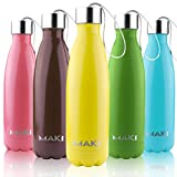 MAKI Vacuum Insulated Stainless Steel Water Bottle - 36 Hours Cold!...