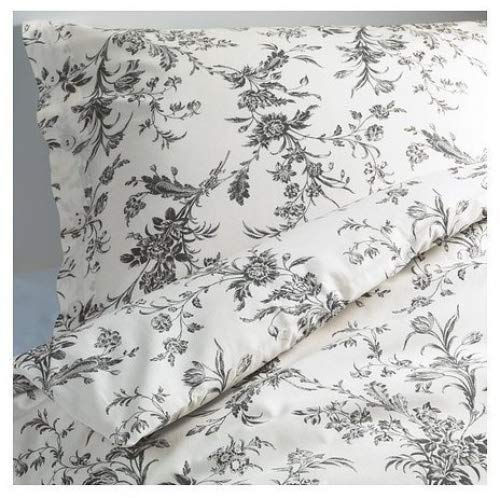 IKEA White and Grey Queen/Full Duvet Cover and 2 Pillow Cases