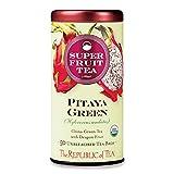 The Republic of Tea Organic Pitaya Green Superfruit Tea Bags, 50 Tea Bag Tin