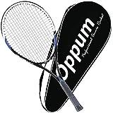 oppum Adult Carbon Fiber Tennis Racket, Super Light Weight Tennis Racquets Shock-Proof and Throw-Proof,Include Tennis Bag Tennis Overgrip (Aluminum-Carbon Racquet(Balck Blue), 4 3/8)