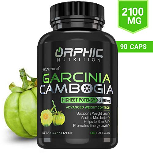100% Pure Garcinia Cambogia Extract 95% HCA - 2100mg Appetite Suppressant Capsules - Orphic Nutrition - 90 Caps
