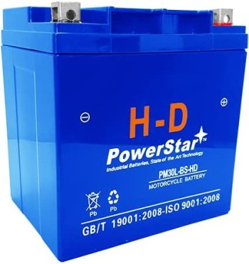 PowerStar AGM Harley FLHT Touring Battery