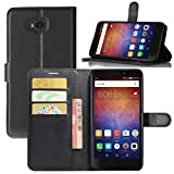 Huawei Ascend XT Case, Fettion Premium PU Leather Wallet Flip Phone Protective Case Cover with Card Slots, Stand Feature and Magnetic Closure for Huawei Ascend XT / H1611 Smartphone (Wallet - Black)