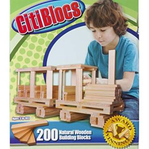 CitiBlocs 200-Piece Natural-Colored Building Blocks 51ncsq7fP7L
