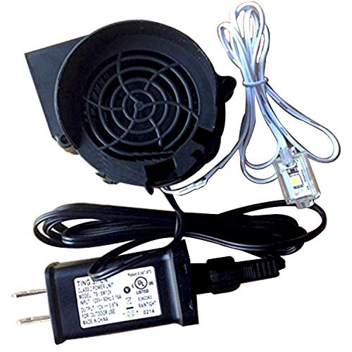 Gemmy inflatable Replacement 1.5 a Fan/Blower with 12v/1.5a Adapter and 6' long light string with 3 very bright LED lights - Model JDH1232S by YFan