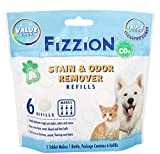 Fizzion Pet Stain and Odor Eliminator Removes Pet Urine and Feces Safely with The Professional Cleaning Power of CO2 (6 Tablets, Original)