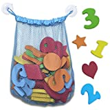 44 Piece Set of Foam Bath Letters and Numbers with Shapes Included - Educational Bath Toys for Children - by Mini Matters