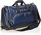 AmazonBasics Small Sports Duffel Gym Bag - Navy Blue