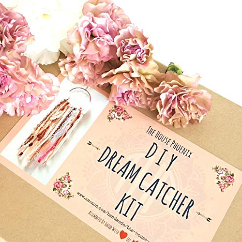 This Is The Most Luxurious Dream Catcher Kit You Will Find Anywhere Makes Perfect Birthday Gift For Her Pink Do It Yourself Craft Hand