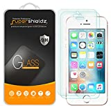 Supershieldz (2 Pack) for iPhone SE, iPhone 5, iPhone 5S, iPhone 5C Tempered Glass Screen Protector Anti Scratch, Bubble Free