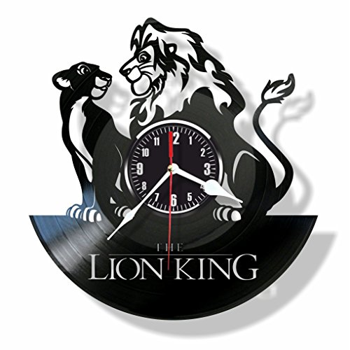 The Lion King vinyl wall clock- Modern room decor - Unique Handmade gift for friends and someone you love