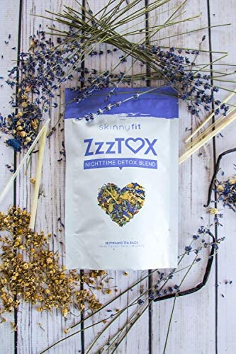 SkinnyFit ZzzTox Nighttime Detox Tea: Caffeine-Free, All-Natural, Laxative-Free, Chamomile, Lavender, Vegan, Supports Weight Loss, Helps Fight Toxins, Restful Sleep, Non-GMO, 28 Servings 6
