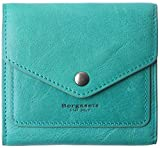 Small Leather Wallet for Women, RFID Blocking Women's Credit Card Holder Mini Bifold Pocket Purse (peacock green)