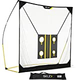 SKLZ Quickster Golf Net 8 X 8ft with Chipping Target and Carry Bag - Ultra Portable Driving Range with Quick Assembly, Perfect Your Swing, Improve Your Aim, and Develop Your Hand-Eye Coordination