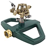 Melnor Impact Lawn Sprinkler, Metal Head & Metal Sled, Adjustable Angle and Distance, Waters Up to 85'...